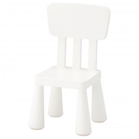 Детский стул МАММУТ д/дома/улицы, белый фото 0