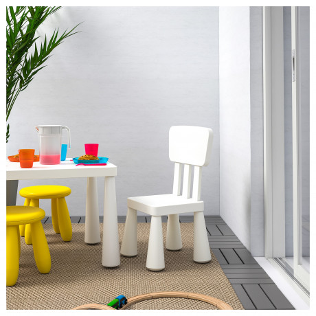 Детский стул МАММУТ д/дома/улицы, белый фото 1