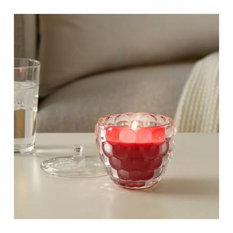 Ароматическая свеча в стакане СОММАР 2019 Малина, красный фото 1